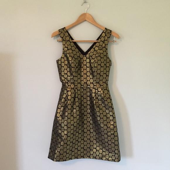 J. Crew Factory Dresses & Skirts - Gold Dot Jacquard Dress
